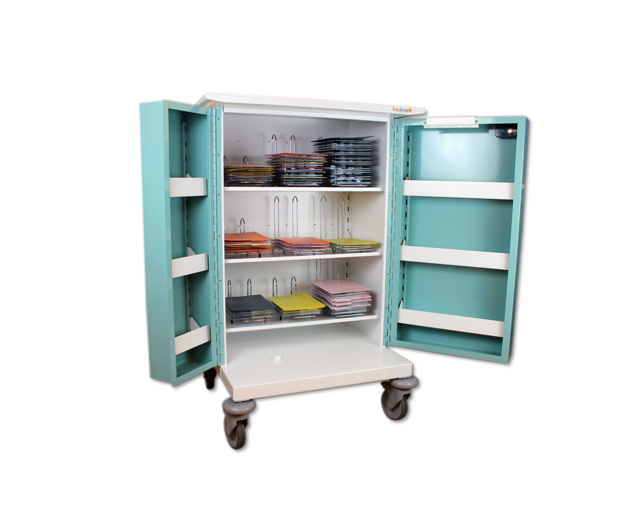 Metal Monitored Dosage System Trolley - 9 Hoop Capacity