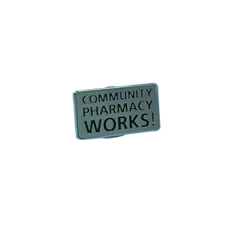 COMMUNITY PHARMACY WORKS! Enamel pin badge