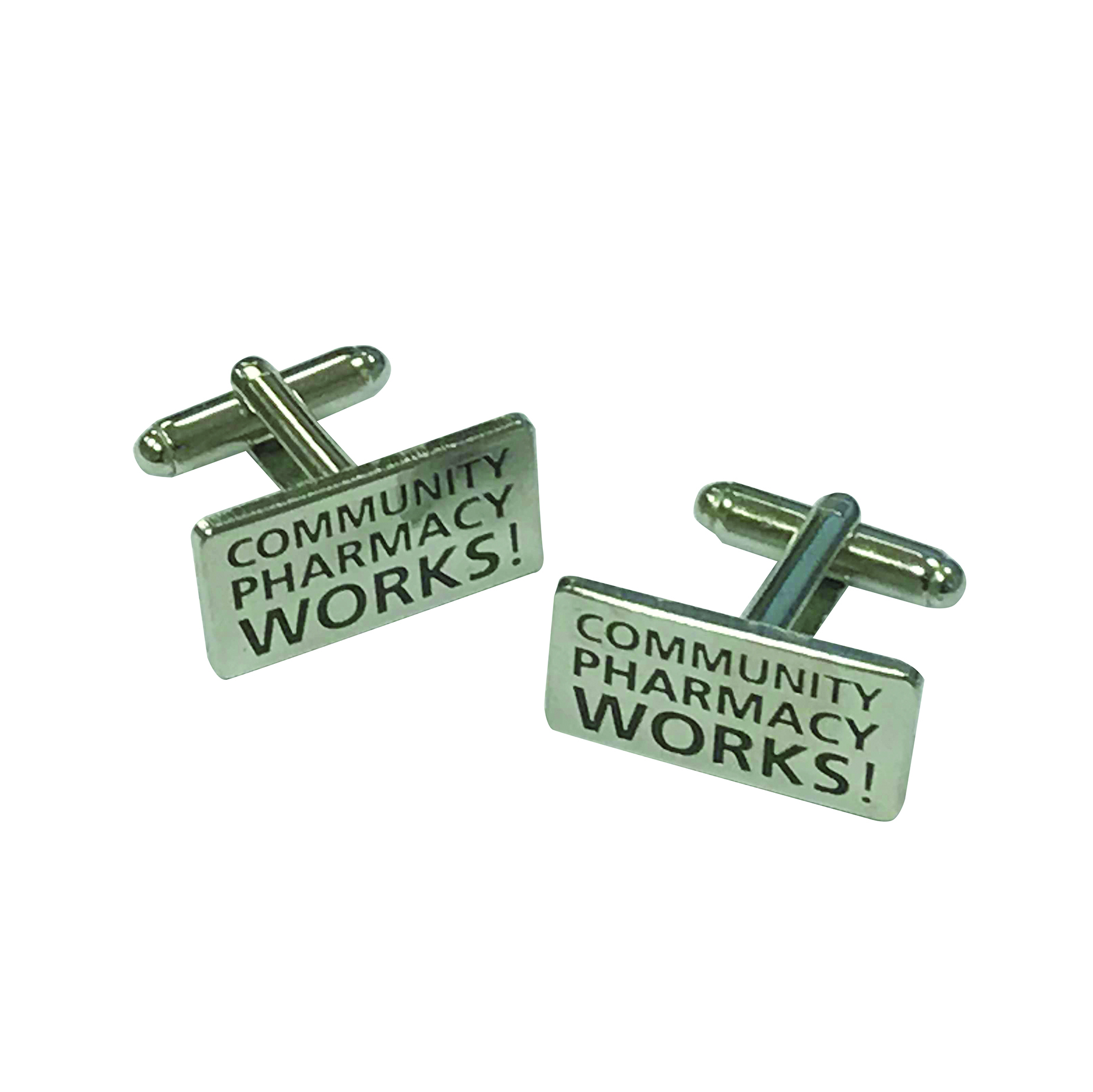 COMMUNITY PHARMACY WORKS! Enamel cufflinks