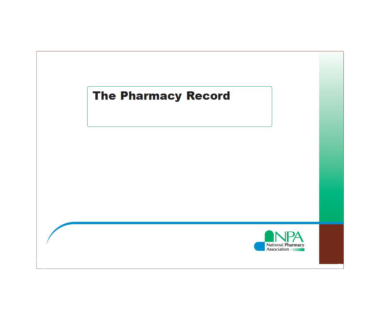 Pharmacy record book