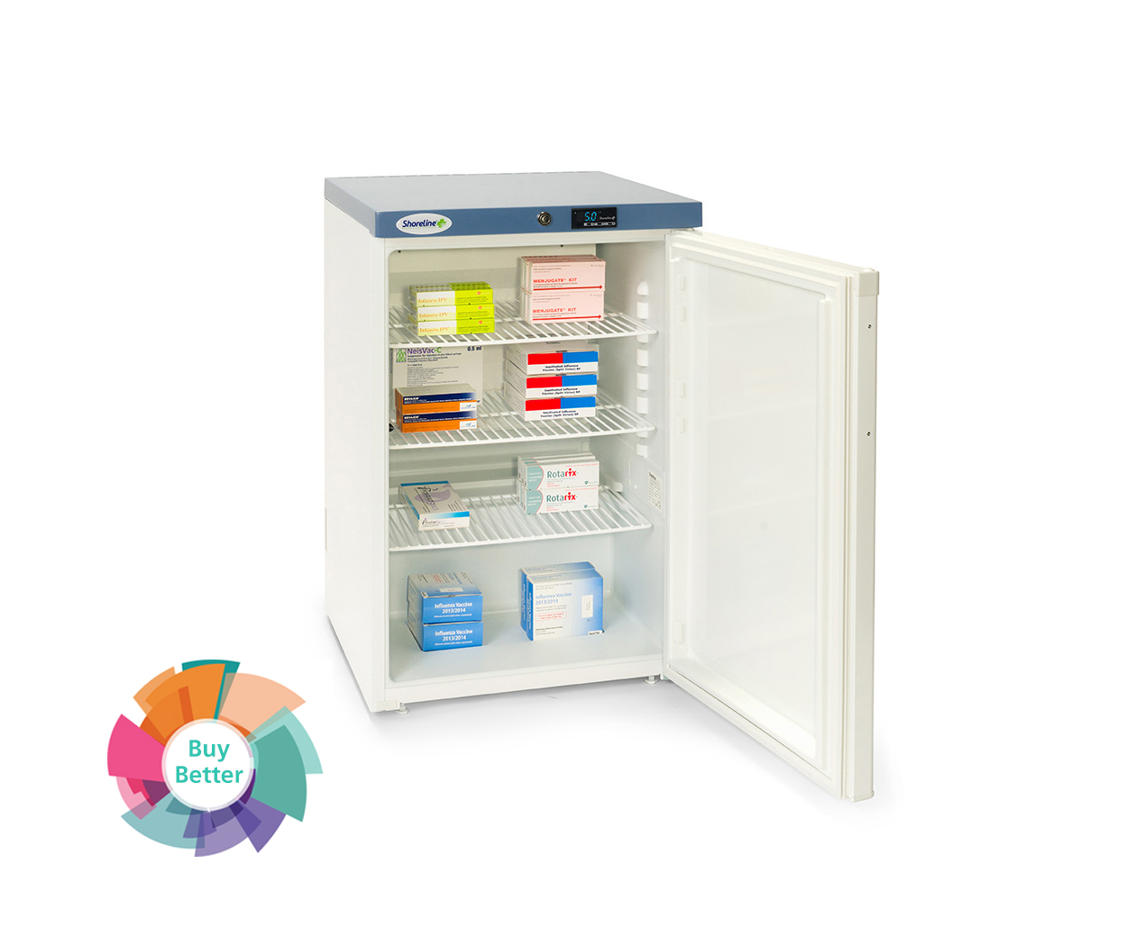 Shoreline SM1402 Solid Door Pharmacy Fridge – 141 litre
