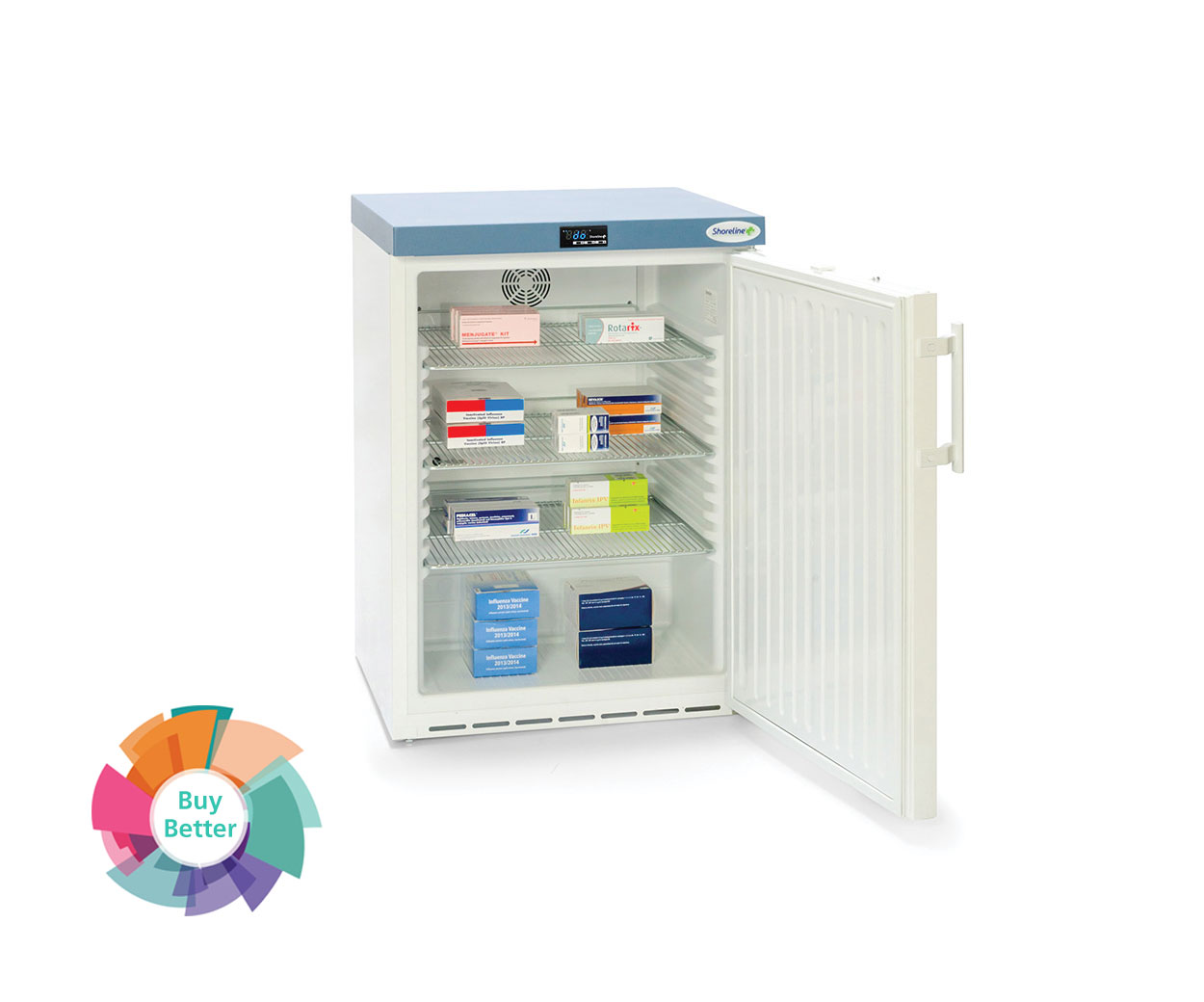 Shoreline SM161 Solid Door Pharmacy Fridge – 141 litre