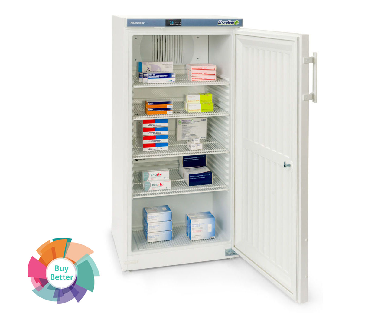 Shoreline SM264 Solid Door Pharmacy Fridge – 236 litre