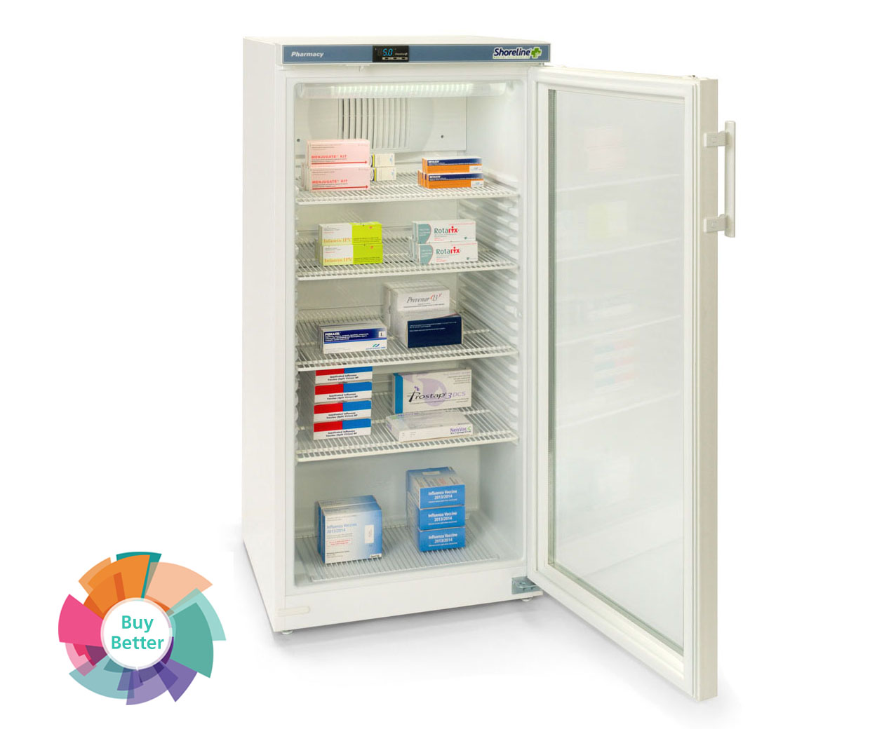 Shoreline SM264G Glass Door Pharmacy Fridge – 236 litre