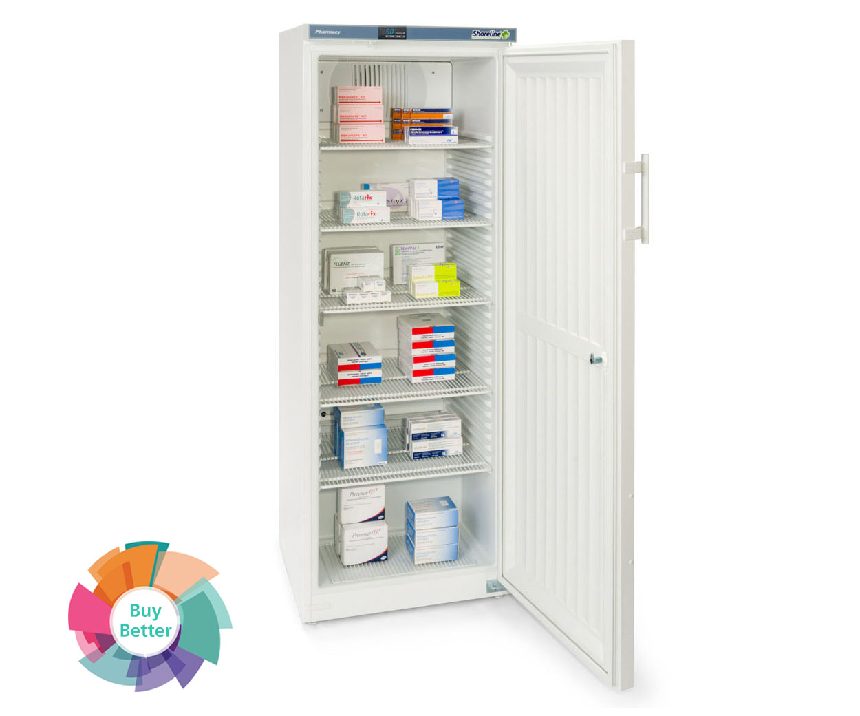 Shoreline SM364 Solid Door Pharmacy Fridge – 335 litre