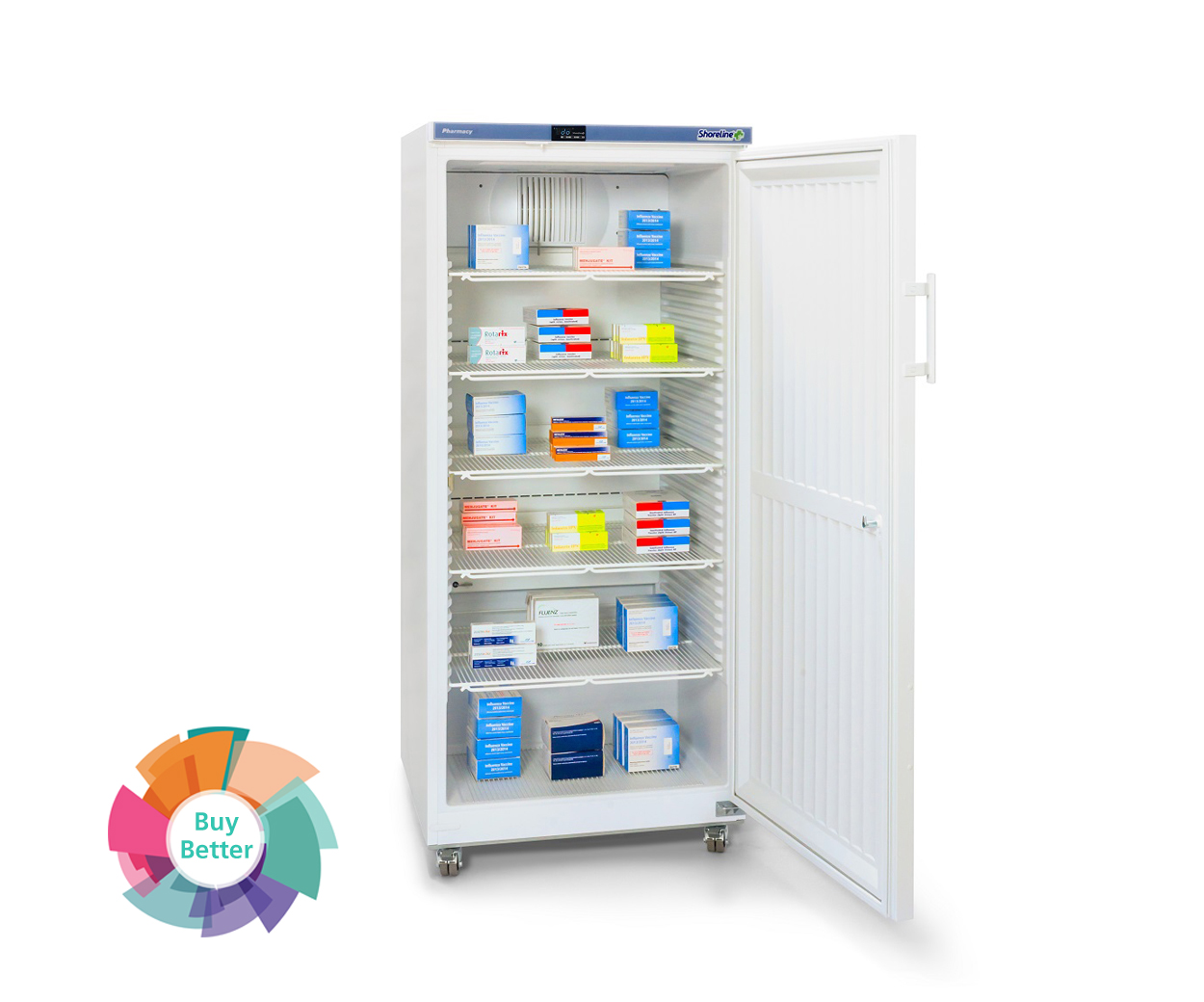 Shoreline SM544 solid door pharmacy fridge – 544 litre
