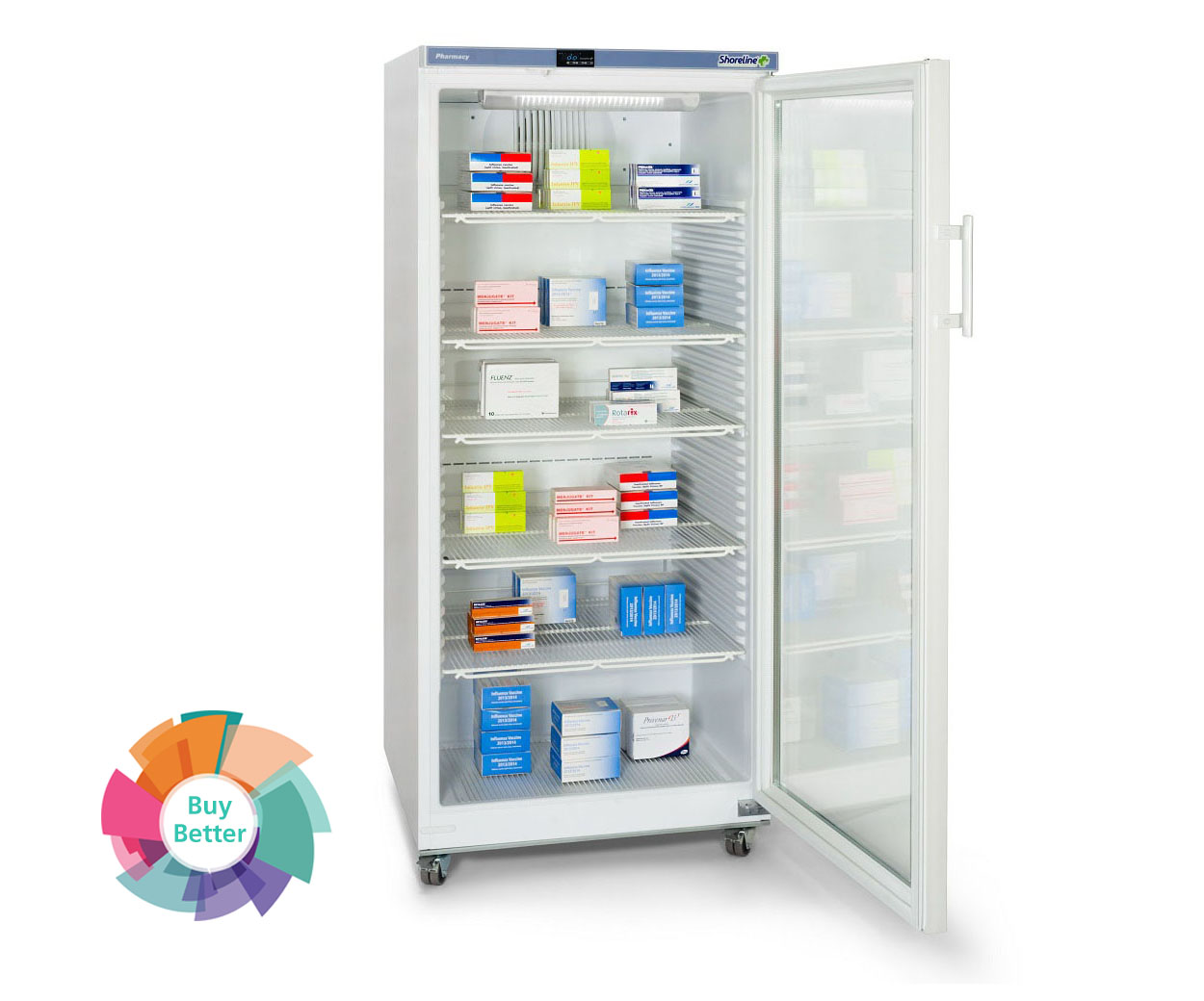 Shoreline SM544G Glass Door Pharmacy Fridge – 544 litre