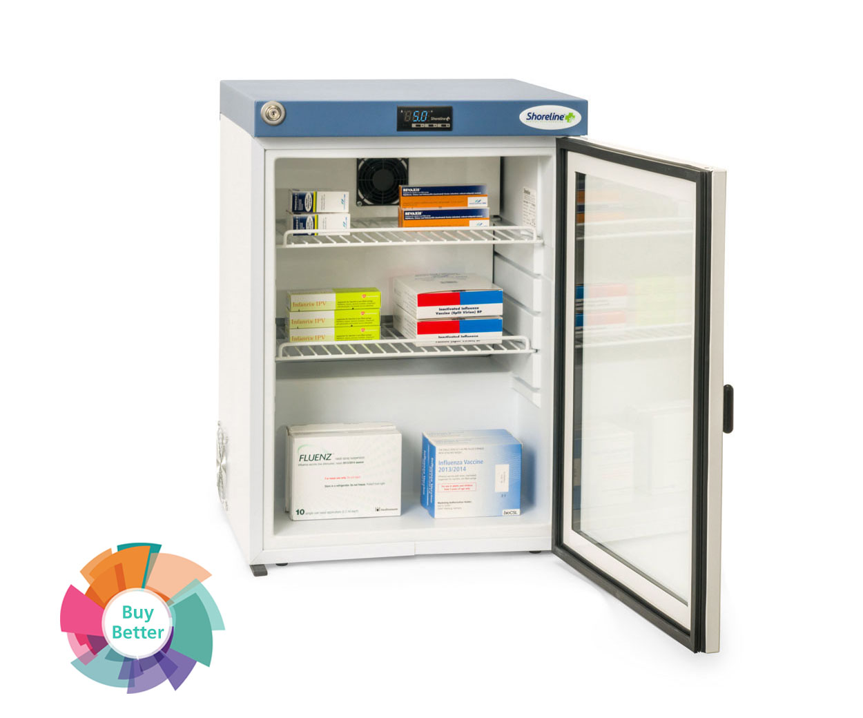 Shoreline SM60G Glass Door Pharmacy Fridge – 60 litre