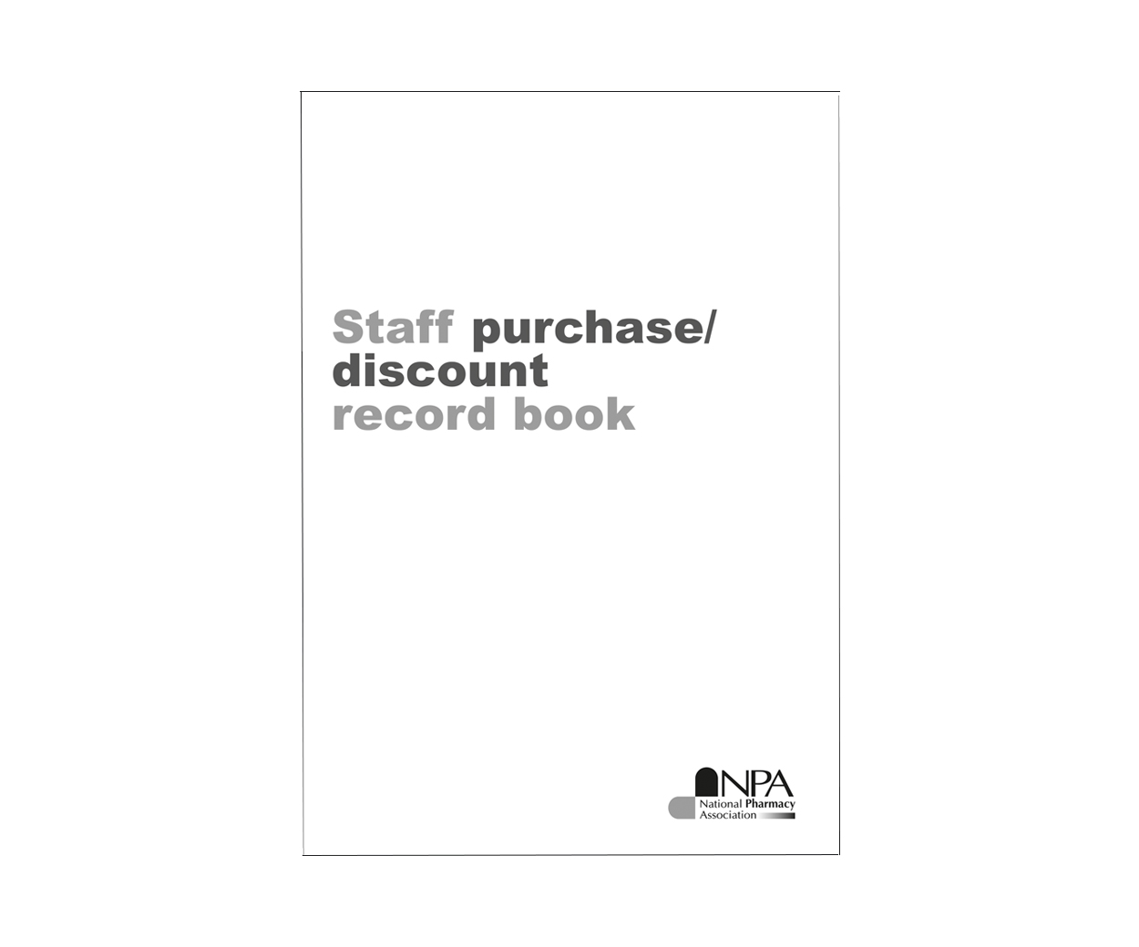 Staff Purchase Record Book – Pack of 2