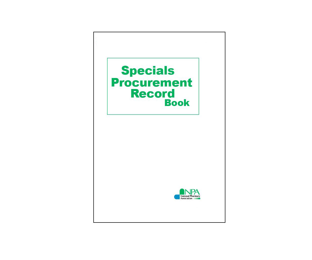Specials Procurement Record Book