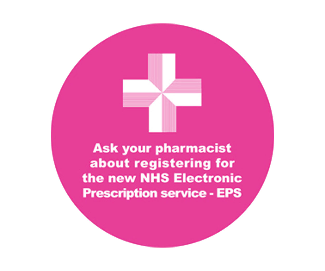 Ask Your Pharmacist Prescription Alert Sticker - Roll of 1000