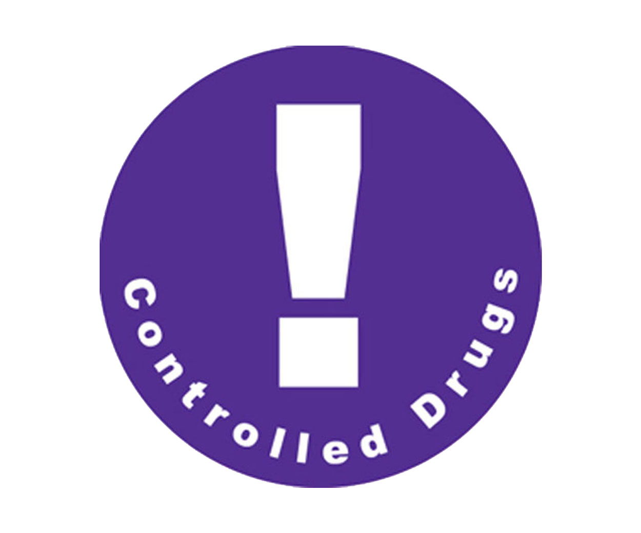 GREAT VALUE - Controlled Drug Prescription Alert Stickers