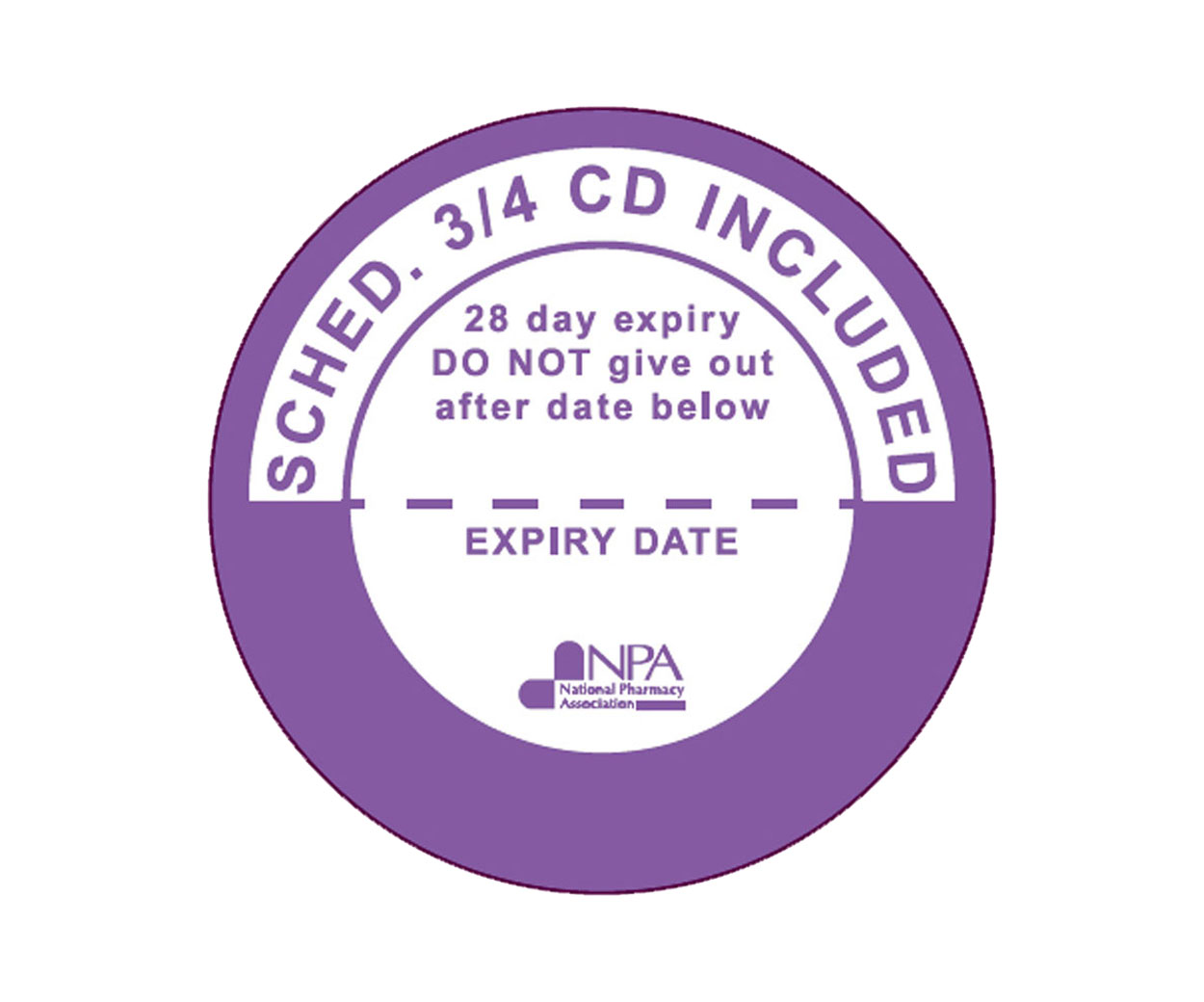 Controlled Drugs Prescription Alert Stickers – with expiry date
