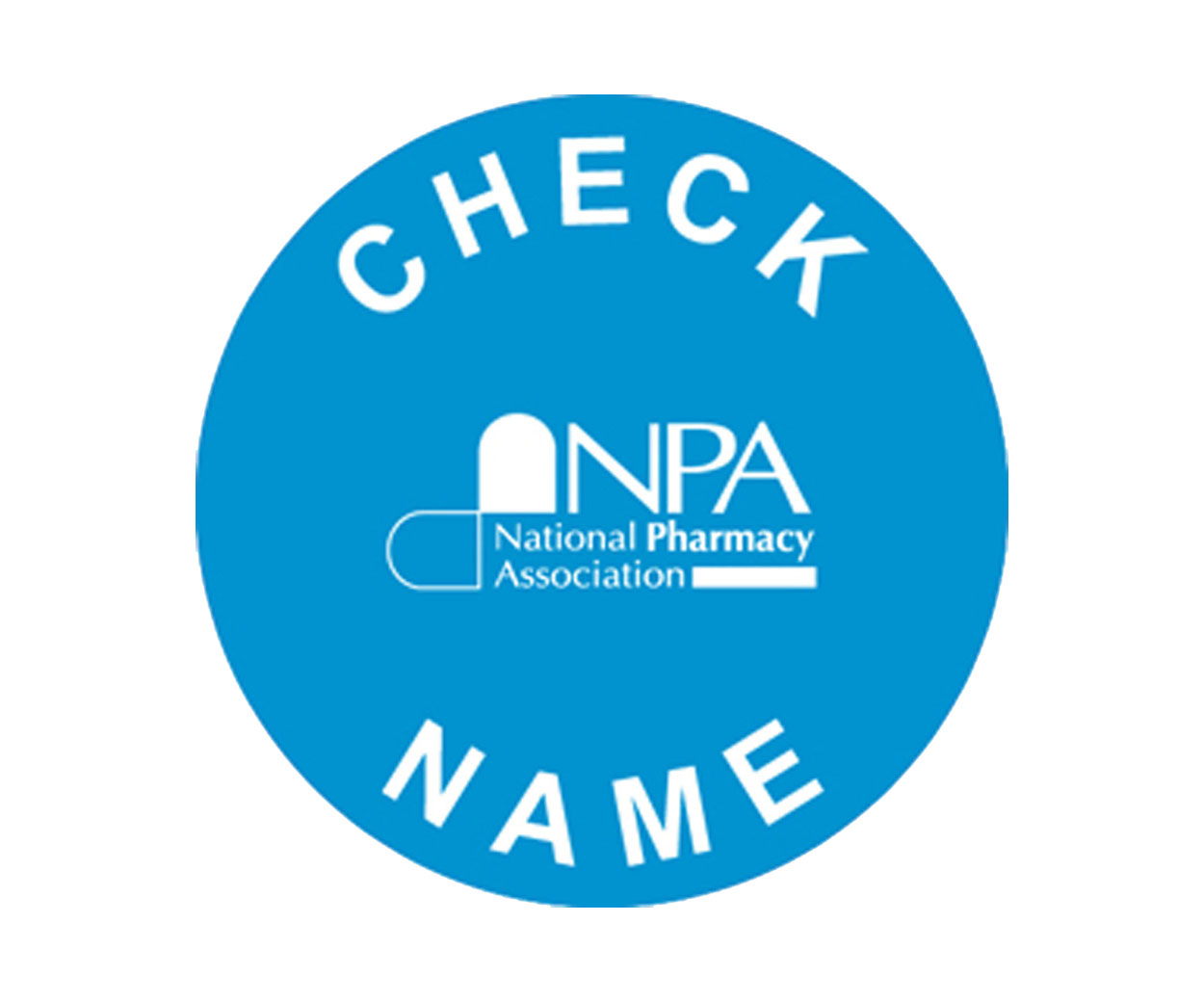 Check Name Prescription Alert Stickers - Pack of 1000