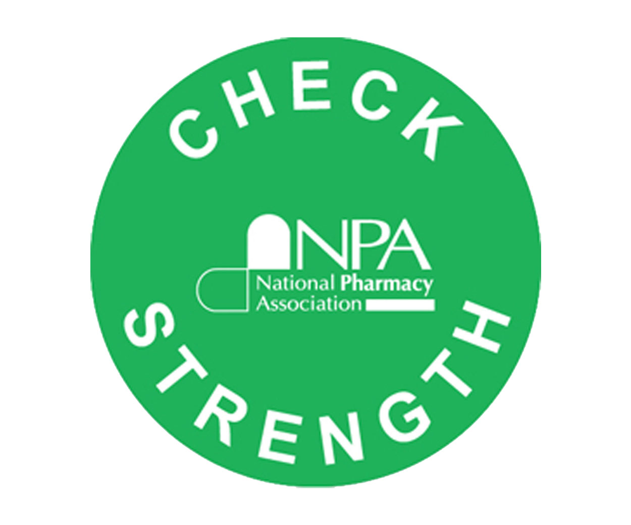 Check Strength Prescription Alert Sticker - Pack of 1000