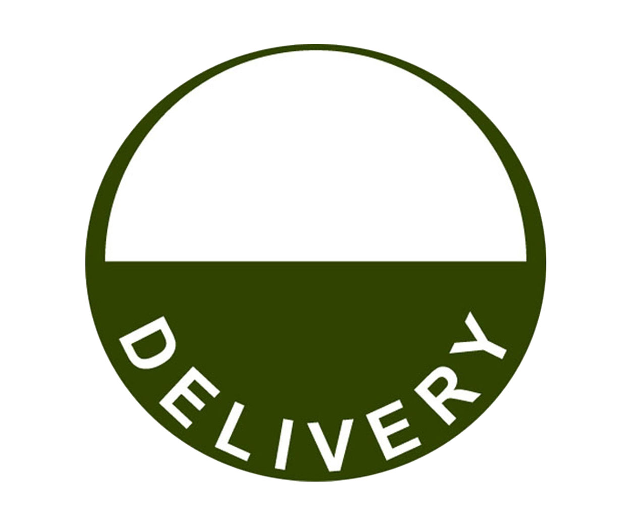 Delivery Prescription Alert Stickers - half moon version - Pack of 1000