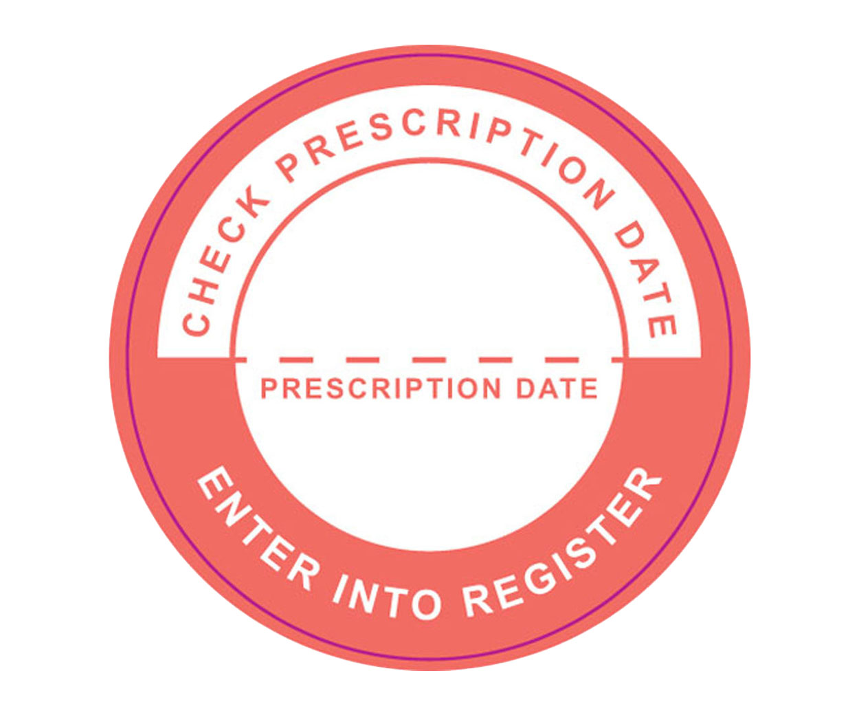 GREAT VALUE - Enter Into Register Prescription Alert Stickers - Pack of 1000