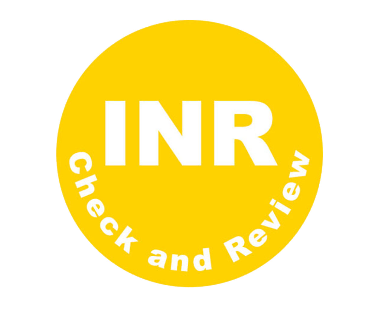 GREAT VALUE - Internationally Normalised Ratio Prescription Alert Stickers - Pack of 1000