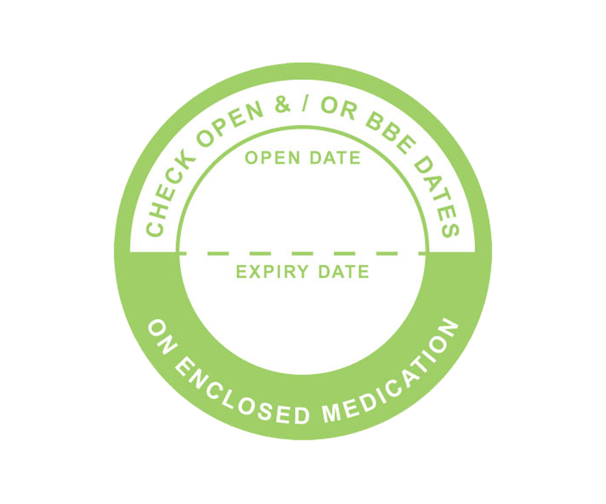 GREAT VALUE - Check Open Date Prescription Alert Sticker