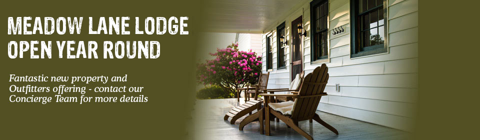 New property and Outfitters offering at Meadow Lane Lodge, Virginia Hot Springs
