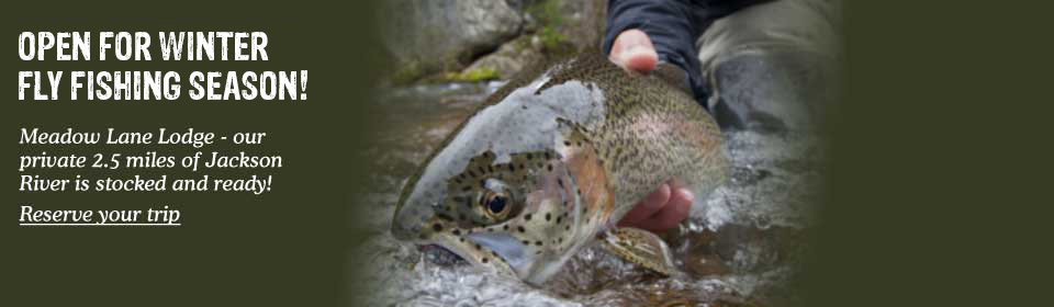 Meadow Lane, Virginia Hot Springs - open for fall fly fishing season