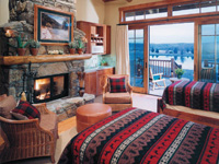 Luxury accommodation at South Fork Lodge, Idaho