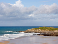Beautiful beaches at Fistral Beach, Cornwall
