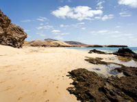 Beautiful beaches at Playa Blanca, Lanzarote