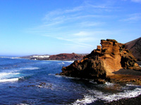 Wonderful scenery at Playa Blanca, Lanzarote