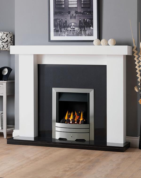 Manhattan Fireplace Surround in Brilliant White