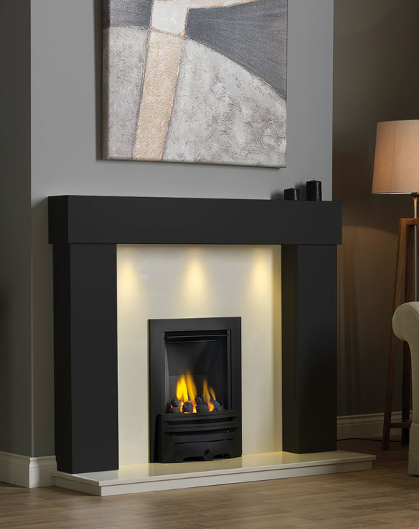 Kentmere Fireplace Surround in Matt Black