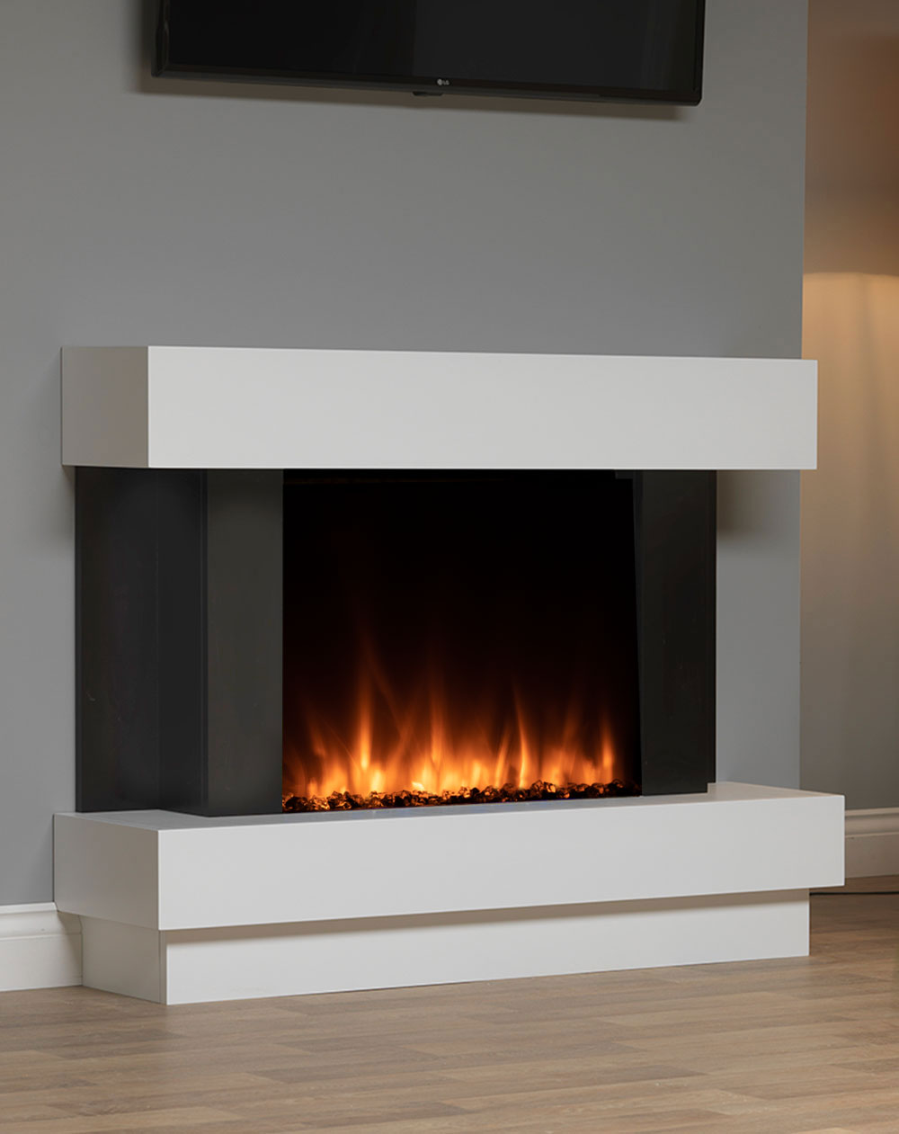 Sofia Electric Suite With Lcd Electric Fire Fireplace Suites