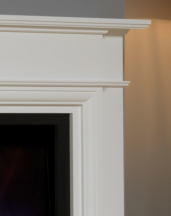 White Oslow electric fireplace