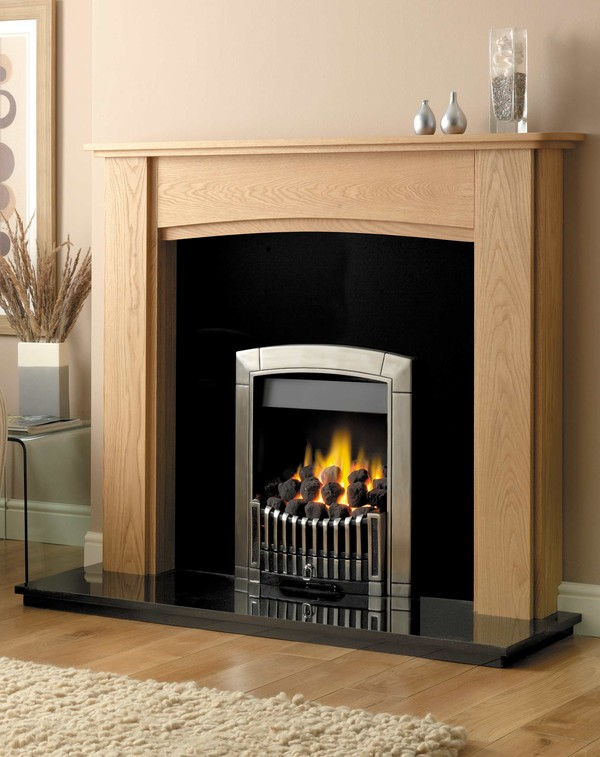 Georgia Fire Surround Shown Here in Matt Oak