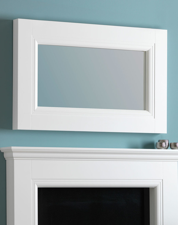 Rossett Wooden fire place mirror