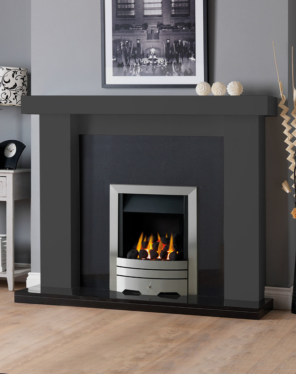 Manhattan Fireplace Surround in Wood Grain Slate