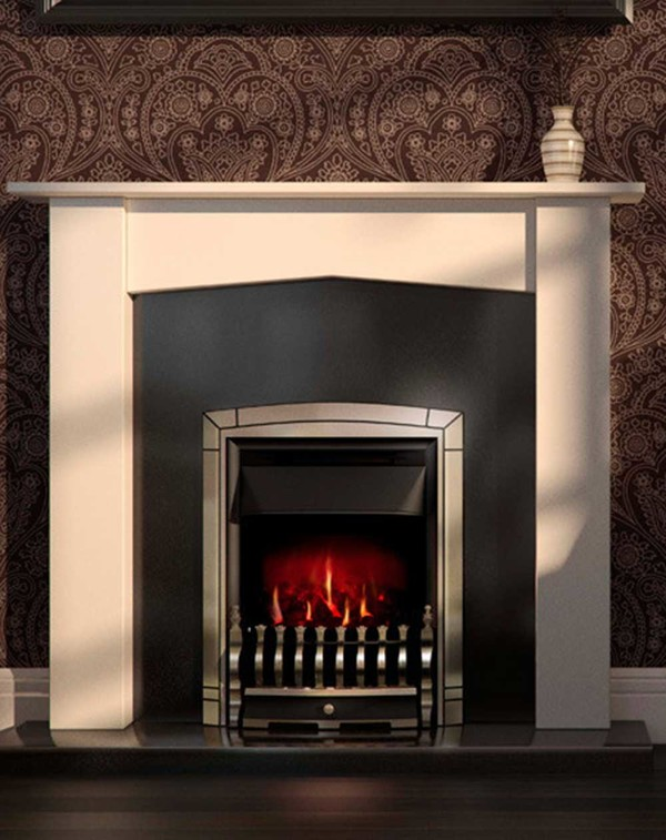 Valor Dream Electric Fire in Pale Gold