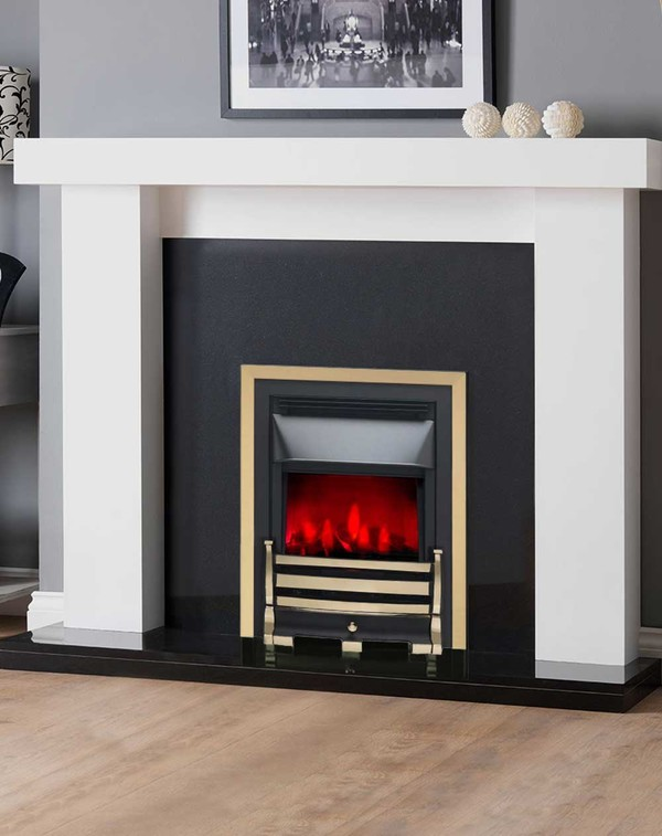 Valor Downton Electric Fire in Pale Gold