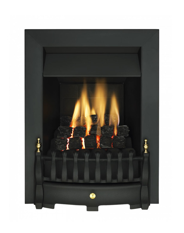 Blenheim Slimline Gas Fire with Black Trim and Fret