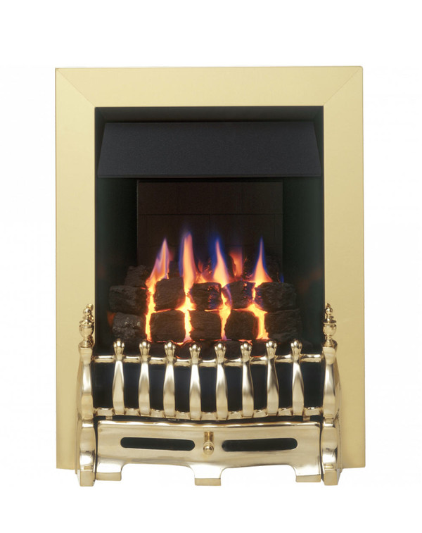 Blenheim Slimline Gas Fire with Brass Trim and Fret