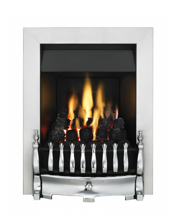 Blenheim Slimline Gas Fire with Chrome Trim and Fret