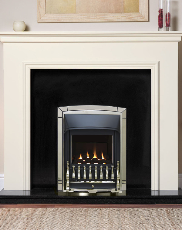 Valor Balanced Flue Gas fire in pale gold