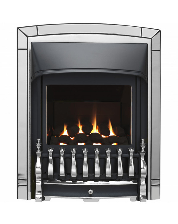 Valor balanced flue fire in chrome