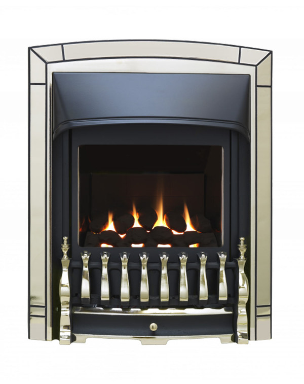 Valor balanced flue fire in Pale Gold