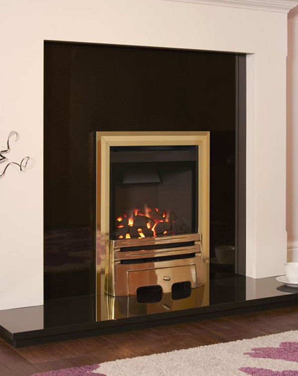 Flavel Calibre gas fire in Brass