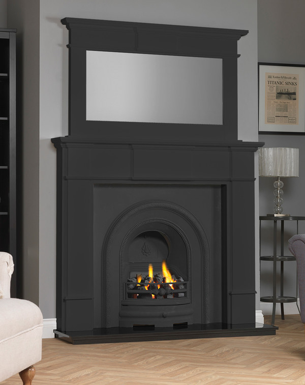 Chesham Fireplace Surround shown here in Matt Black