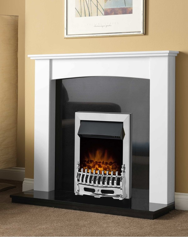 Brampton Fire Surround shown here in brilliant white