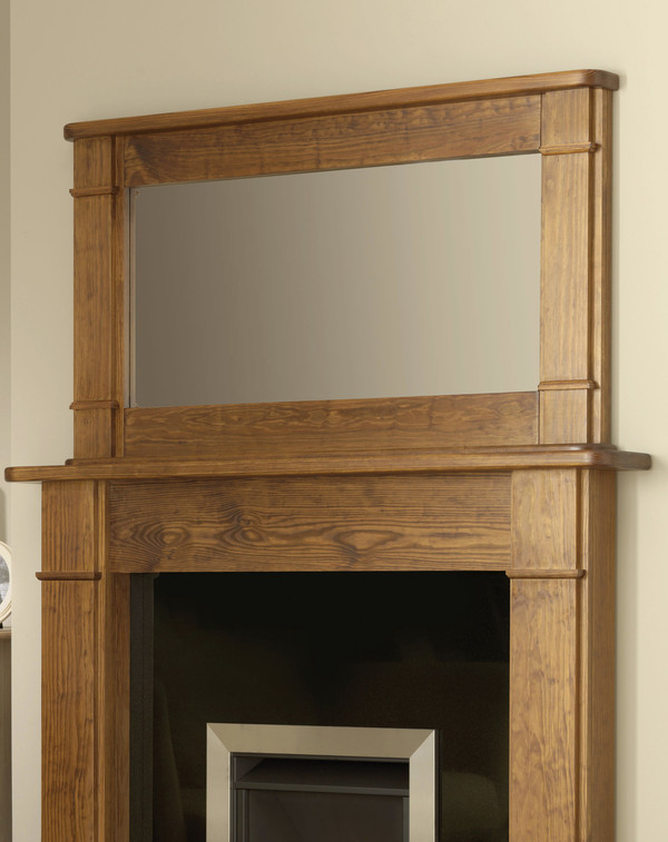 Auckland wood mirror shown here in Medium Waxed Pine