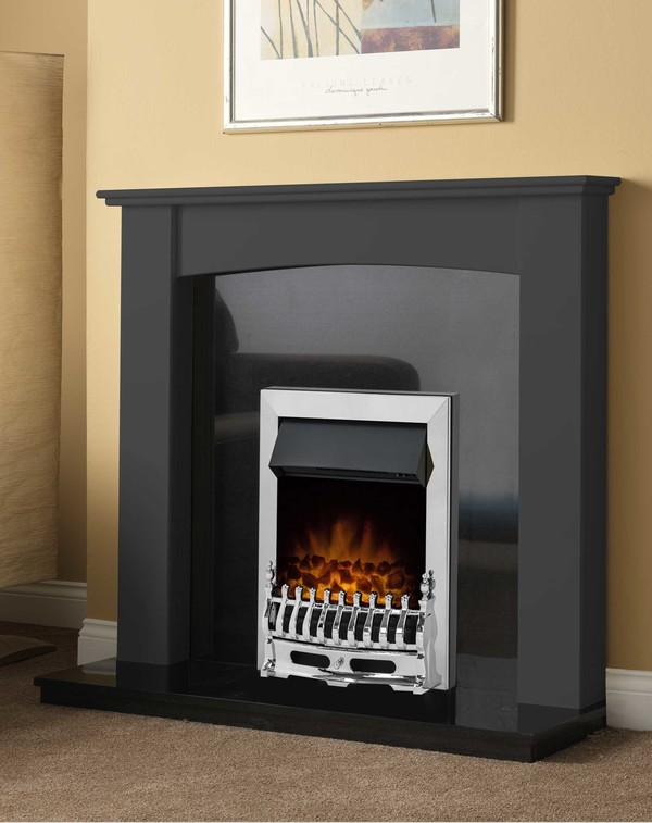 Brampton Fire Surround shown here in smooth slate