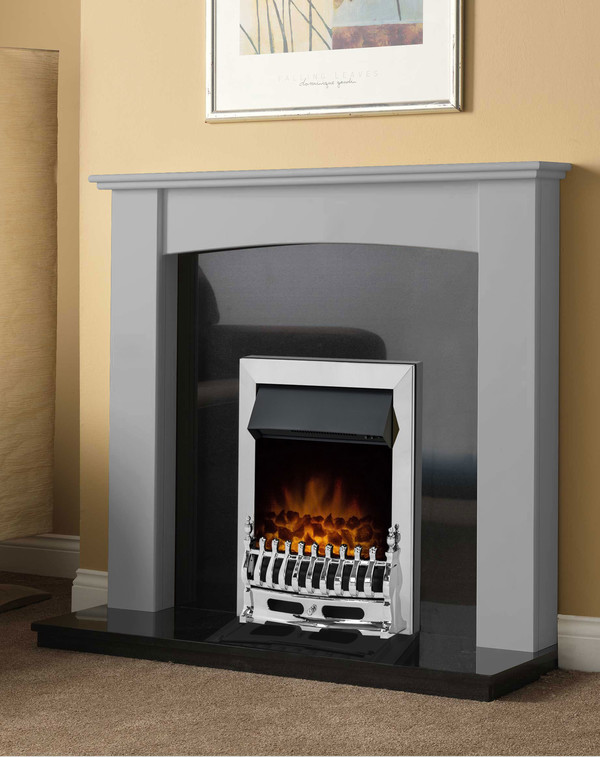 Brampton Fire Surround in Smooth Cloud